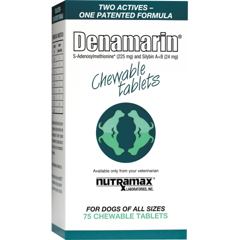 Denamarin Chewable Tabs 75ct for Dogs 1 Pack